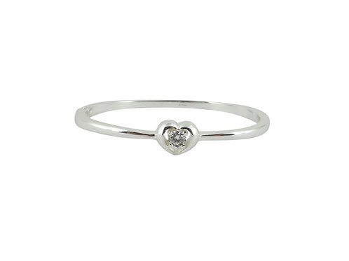 Hinged heart bangle