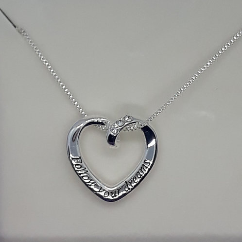Follow your Dreams heart necklace