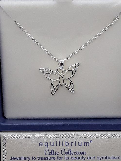 Celtic butterfly necklace