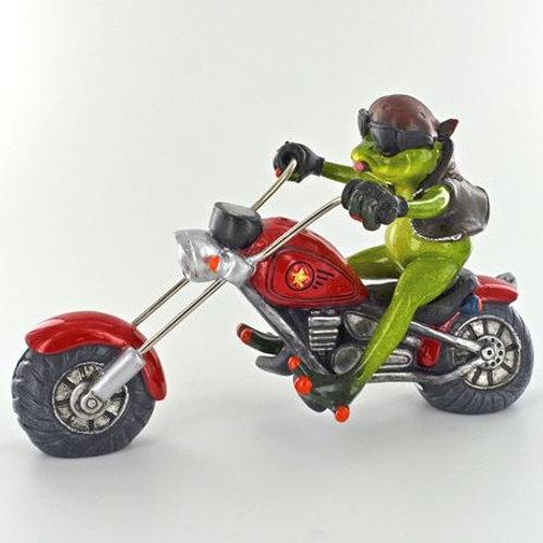 Frog on bike ornament