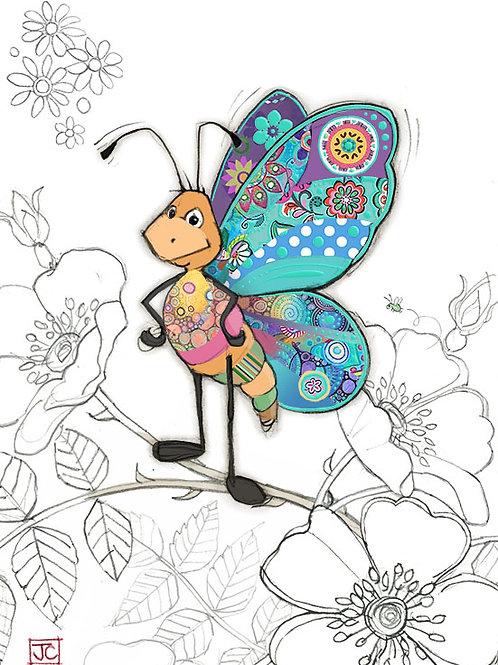 Bertie Butterfly card from BugArt