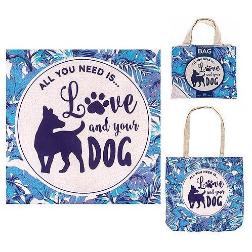 Shopping bag, dog design