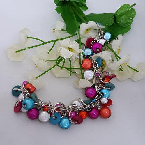 Beaded charm style bracelet