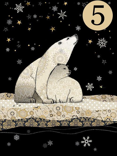 Polar Bear cards, 5 Pack