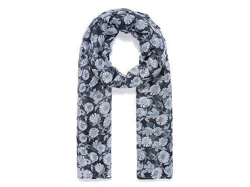 Black daisy scarf