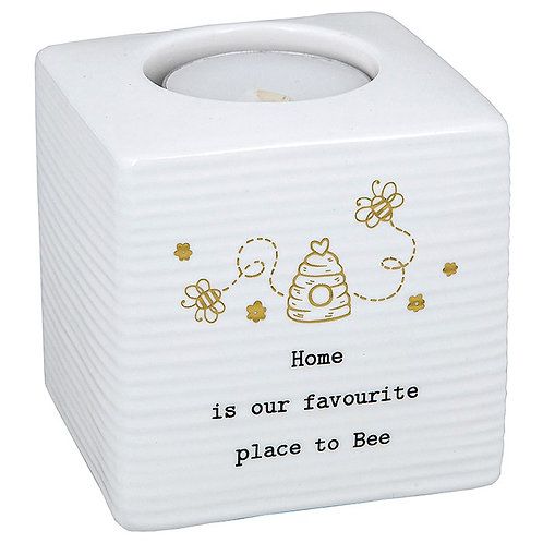 Thoughtful words tea light holder, Home/bee