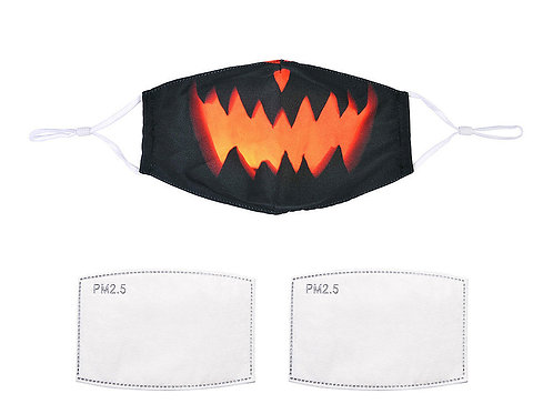 Pumpkin facemask with filters