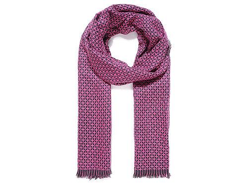 Fuschia and black reversible scarf
