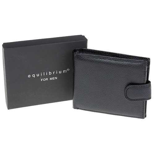 Black wallet with textured finish