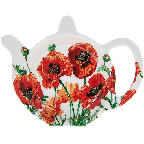 Wild poppy teabag tidy