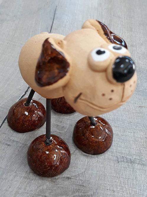 Wire leg dog ornament