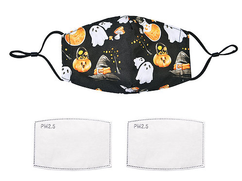 Halloween fabric facemask with filters