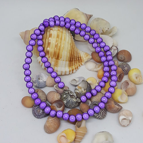 Purple miracle bead necklace