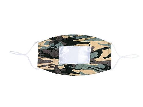 Camouflage lip reading, anti fog mask