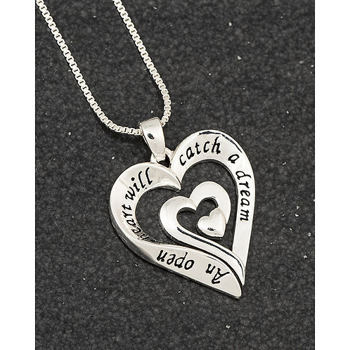 Heart necklace with sentiment