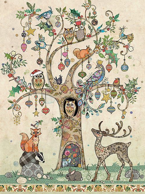 Festive tree card from BugArt