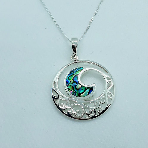 Sterling silver necklace with Abalone