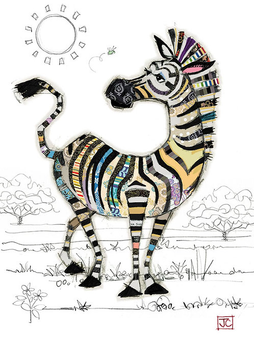 Zoe Zebra card from BugArt