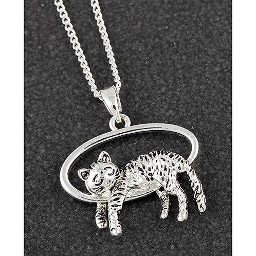 Contented cat necklace
