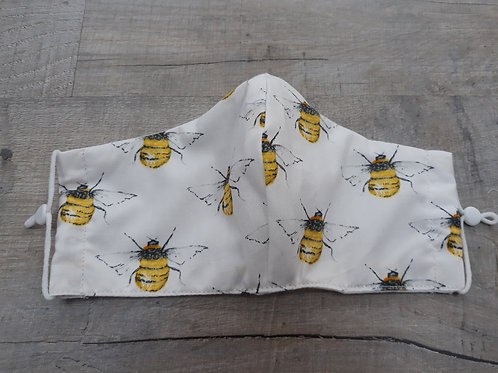 Teenager/ladies face mask with bee design