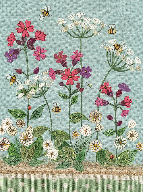 Campion with bees card
