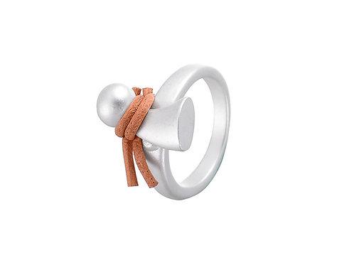 Silver tone snowman ring
