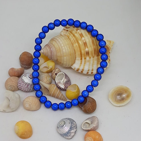 Blue miracle bead bracelet