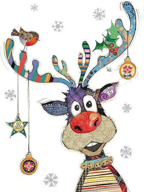 Rudolph Baubles Christmas card