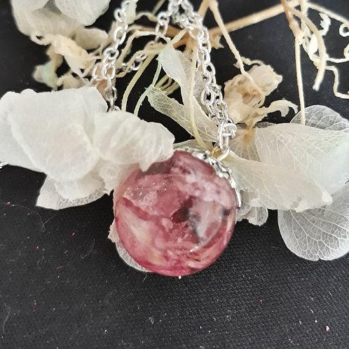 Blush Pink delphinium Necklace