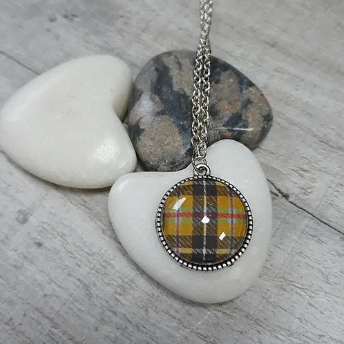 Cornish tartan round necklace
