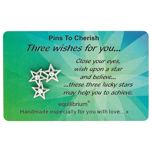 """Lapel Pin """"Three wishes for you"""""""
