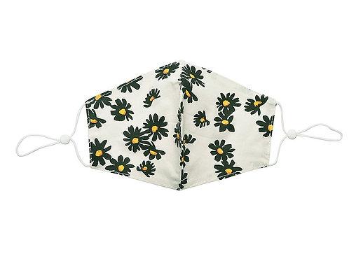 Daisy pattern 100% cotton facemask