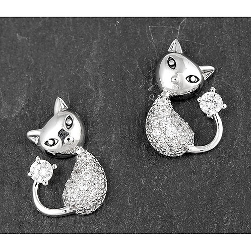 Stylised cat studs
