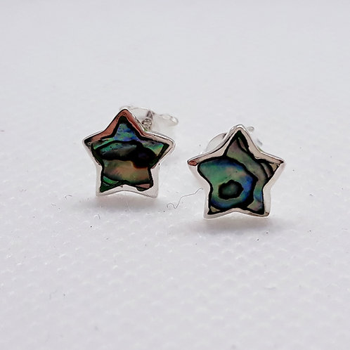 Sterling silver Abalone star studs
