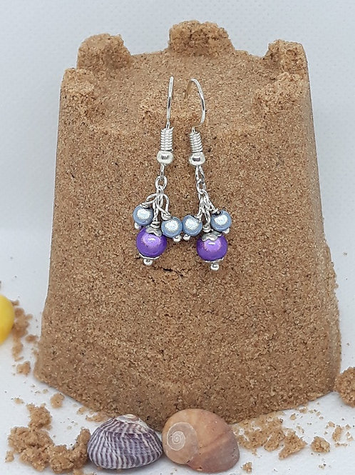 Purple and blue miracle bead drops