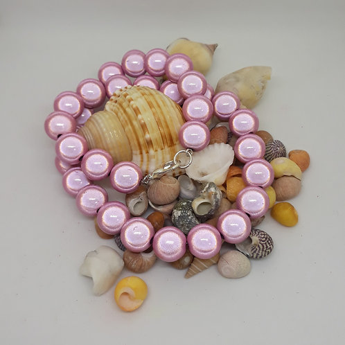 Pale pink miracle bead necklace
