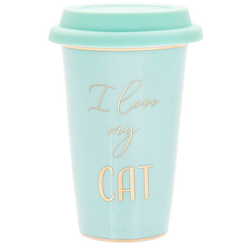 I love my cat fine china travel mug