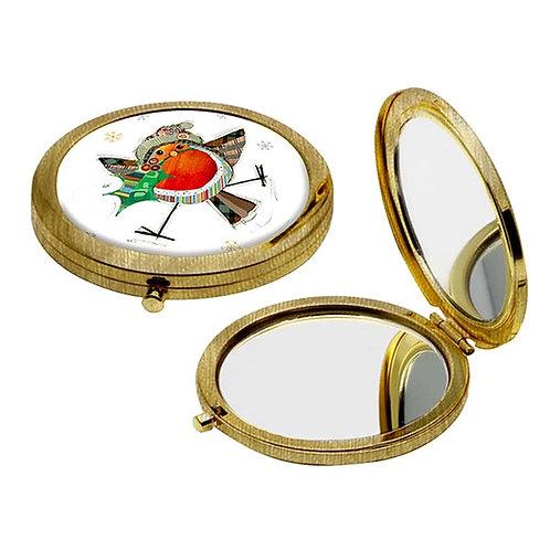 Christmas Robin compact mirror from Bug Art