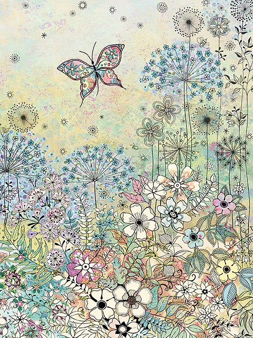 Meadow butterfly card