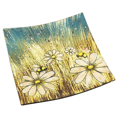 Honey bee square plate