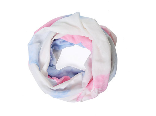 Light pink tie dye snood/hat/facecovering