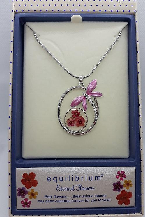 Eternal flower necklace