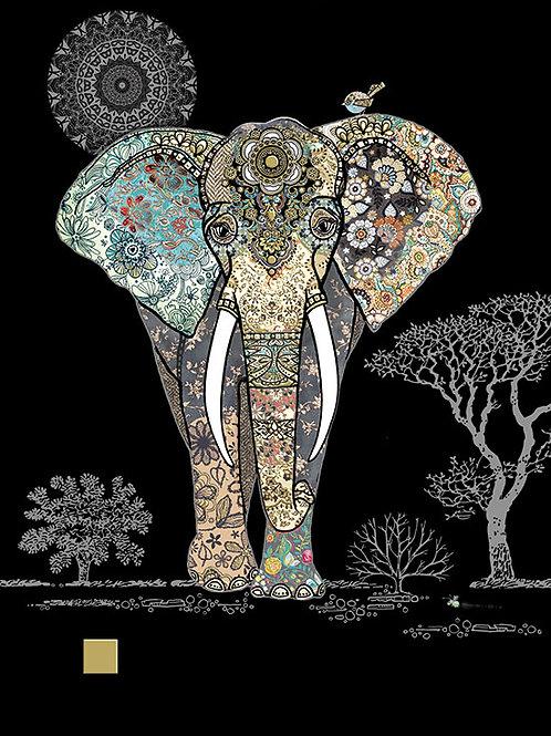Decroative elephant card