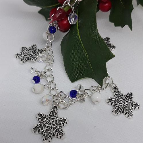 Snowflake beaded bracelet