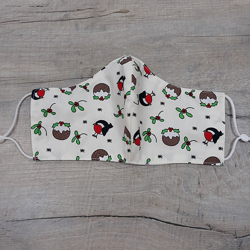 Teenager/ladies Christmas robin facemask