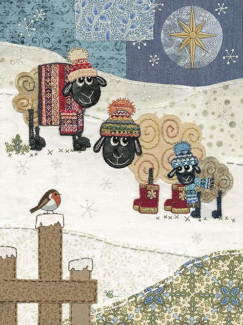 Sheep with Robin Card