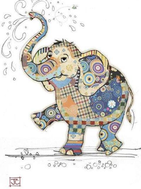 Eddie elephant card from Bug Art