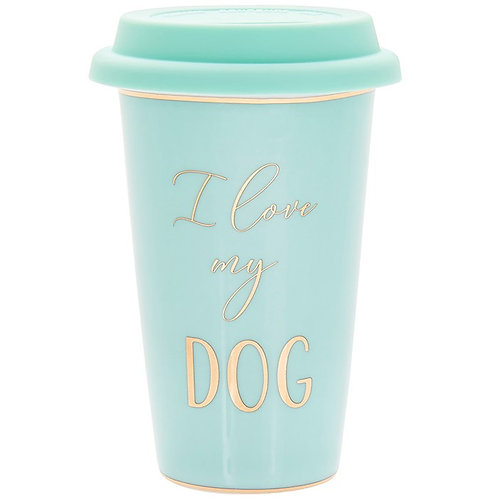 I love my dog fine china  travel mug
