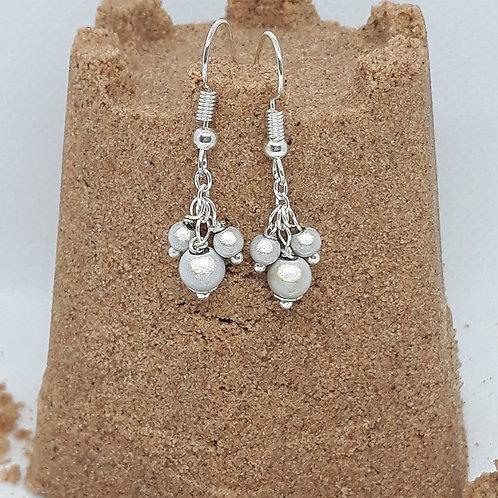 Silver grey miracle bead drops