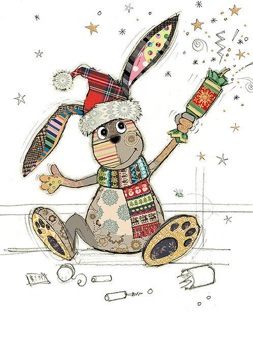 Christmas bunny Cracker Card